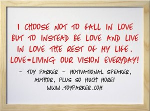 Toy's quote on falling in love