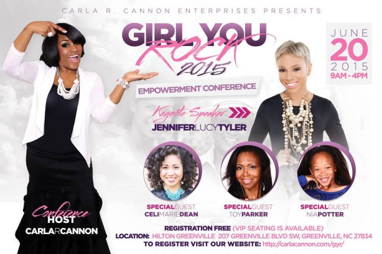 Girl you rock conference flyer with me and Nia