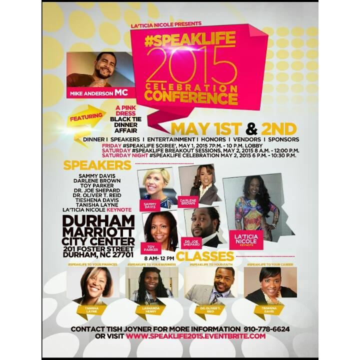 I'm guest speaker at speak life conference pic
