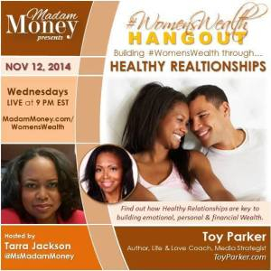 Women's Wealth Guest appearance Nov. 2014 as the Love Strategist - in addition to Marketing Media Strategist