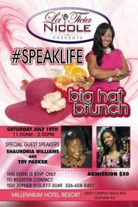 #IGNITEyourLife Toy guest keynote speaker at millennium hotel resort for #SpeakLife brunch